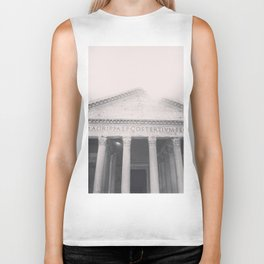 The Pantheon, fine art print, black & white photo, Rome photography, Italy lover, Roman history Biker Tank