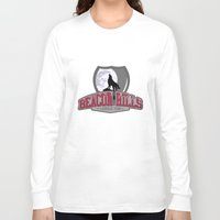lacrosse Long Sleeve T-shirts featuring Teen wolf - Beacon hills lacrosse team by Little wadoo