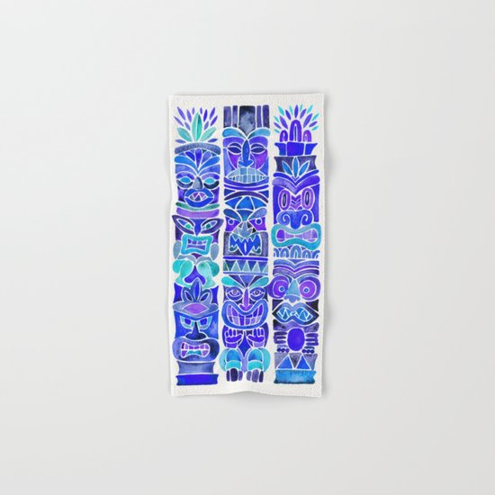 Tiki Totems – Indigo Palette Hand & Bath Towel
