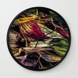 Dried Flower Petals Wall Clock
