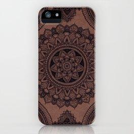 Mandala on Masonite I iPhone Case