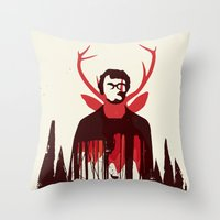 hannibal Throw Pillows featuring Hannibal by Risa Rodil