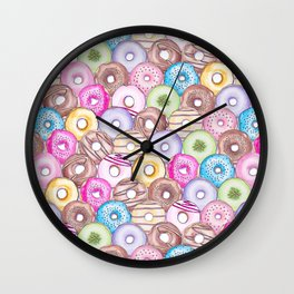 Donut Invasion Wall Clock