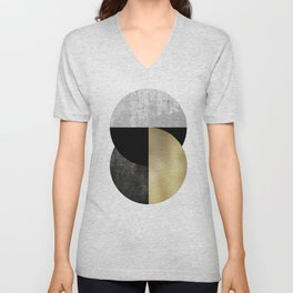 Moon Phase, Mid Century Modern,Scandinavian Abstract Unisex V-Neck