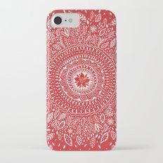 Poinsettia Mandala iPhone 7 Slim Case