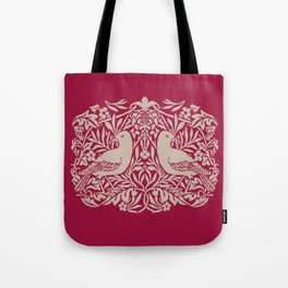William Morris Style Victorian Birds Tote Bag
