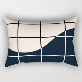 Black and White Grid Rectangular Pillow