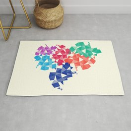 Background of geometric shapes. Colorful mosaic pattern Rug