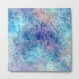 Colorful Cool Tones Blue Purple Abstract Metal Print