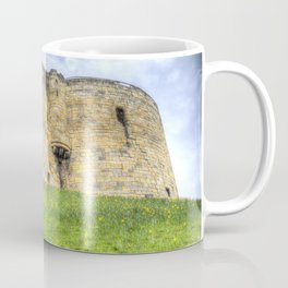 York Castle And Daffodils Coffee Mug