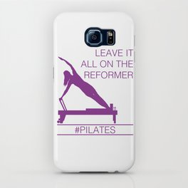 Leave It All On the Reformer #Pilates iPhone Case