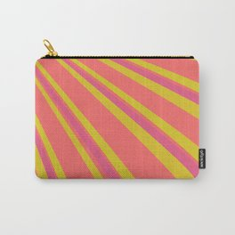 Pantone Living Coral Sulphur Spring and Vivacious Red Retro Lines Carry-All Pouch