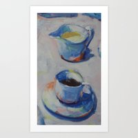 COFFEE and CREAM Art Print