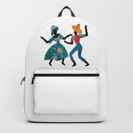 Dancing Lady and Man Backpack