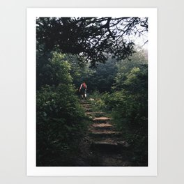 left without being seen Art Print