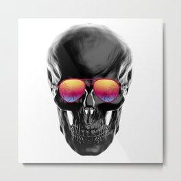Summer Black Skull Metal Print