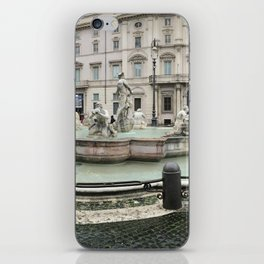 3 legged man in Piazza Navona Rome Italy iPhone Skin