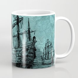 Vintage ship | Vintage pirate | Steam punk design | Pirates Coffee Mug