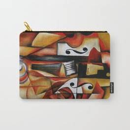 A Rose And A Violin Carry-All Pouch