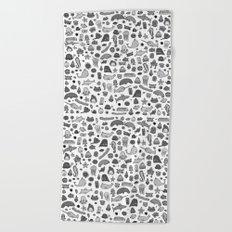 letter c - sea creatures Beach Towel