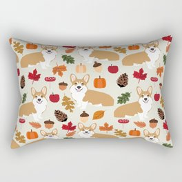 Corgi Autumn Fall woodland pillow phone case cute corgi design corgi dog pattern corgis love Rectangular Pillow
