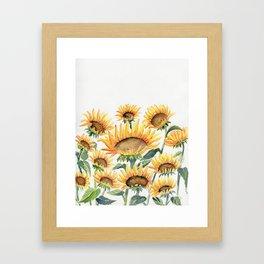 Sunflowers Love Framed Art Print