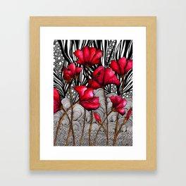 Ruby Rose Pop Framed Art Print