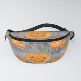 Watercolor Pumpkin Pattern Fanny Pack