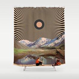 Mountain day Shower Curtain