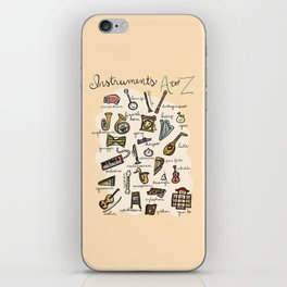 Instruments A to Z iPhone Skin