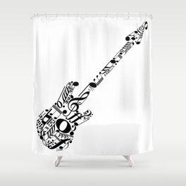 Musical guitar Shower Curtain