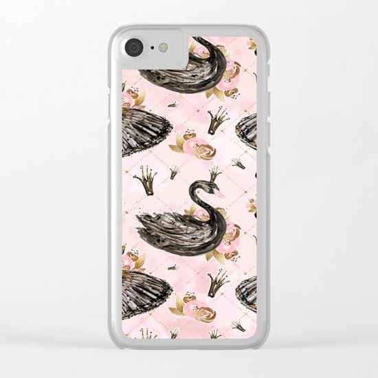 Black swans ballerina #1 Clear iPhone Case