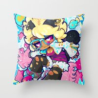 barachan Throw Pillows featuring dive by barachan