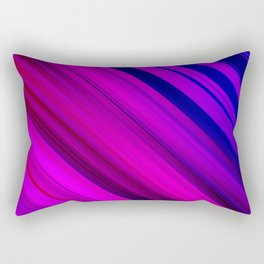 Abstract watercolor colorful lines Rectangular Pillow