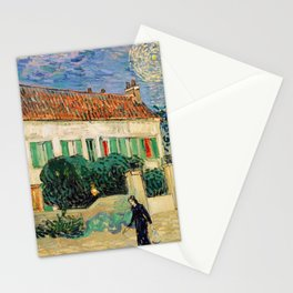 Vincent Van Gogh : White House at Night Stationery Cards