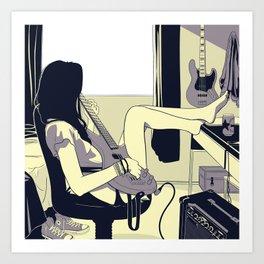 Bass Girl Art Print
