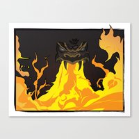 dungeons and dragons Canvas Prints featuring DUNGEONS & DRAGONS - INTRO by Zorio