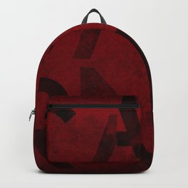 Cabernet Wine Typography Backpack