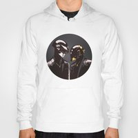 daft punk Hoodies featuring DAFT PUNK by Gregory Casares