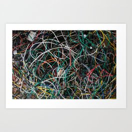 Wires.  Art Print