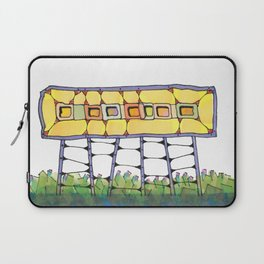 Funky yellow architectural design 51 Laptop Sleeve