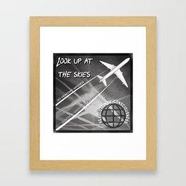 Look up at the Skies (Geo-Engineering) Framed Art Print