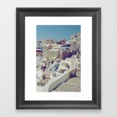 Streets of Santorini II Framed Art Print