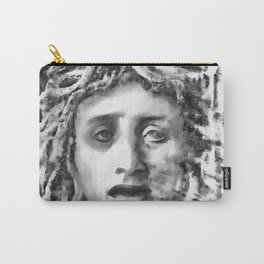 Medusa Ancient Goddess Portrait In Grey Carry-All Pouch