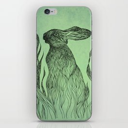 Hiding in the green iPhone Skin