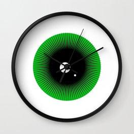 Green Eye recentered Wall Clock