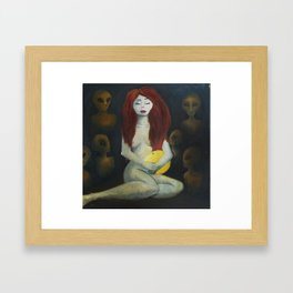 The Madonna and The Martians Framed Art Print