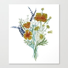 California Wildflower Bouquet Canvas Print
