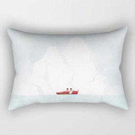 A Ship & An Iceberg Rectangular Pillow