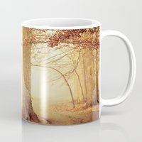 woods Mugs featuring I Heard Whispering in the Woods by Olivia Joy StClaire